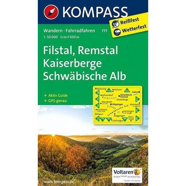 Filstal, Remstal, Kaiserberge, Schwäbische Alb 1 : 50 000 - Wanderkarte
