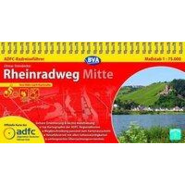 ADFC Radreiseführer Rheinradweg Mitte 1 : 75 000 - Radwanderführer