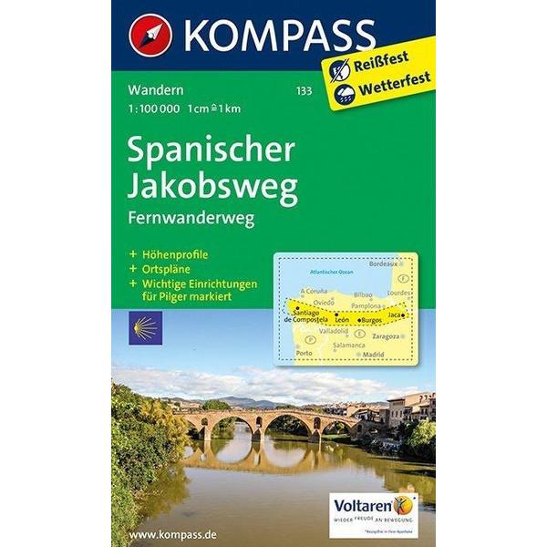 KOKA-133 SPANISCHER JAKOBSWEG - Wanderkarte