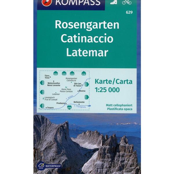 Rosengarten, Catinaccio, Latemar - Wanderkarte