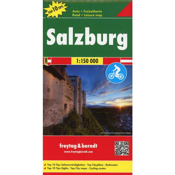 Salzburg, Autokarte 1:150.000, Top 10 Tips