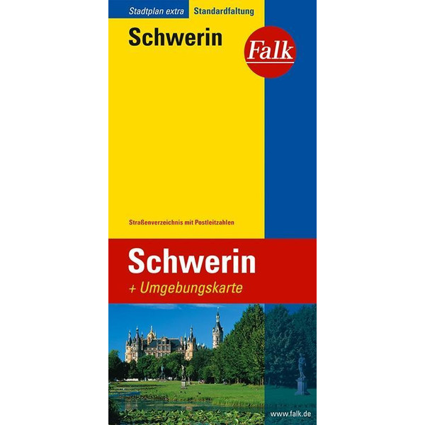 Falk Stadtplan Extra Standardfaltung Schwerin