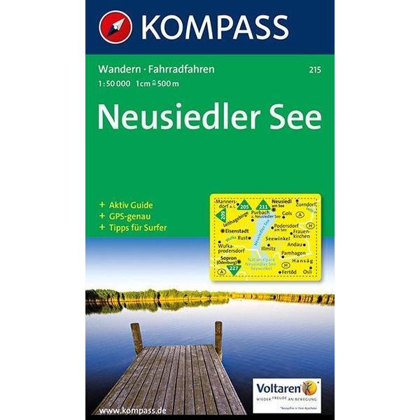 KOMPASS Wanderkarte Neusiedler See 1:50 000 - Wanderkarte