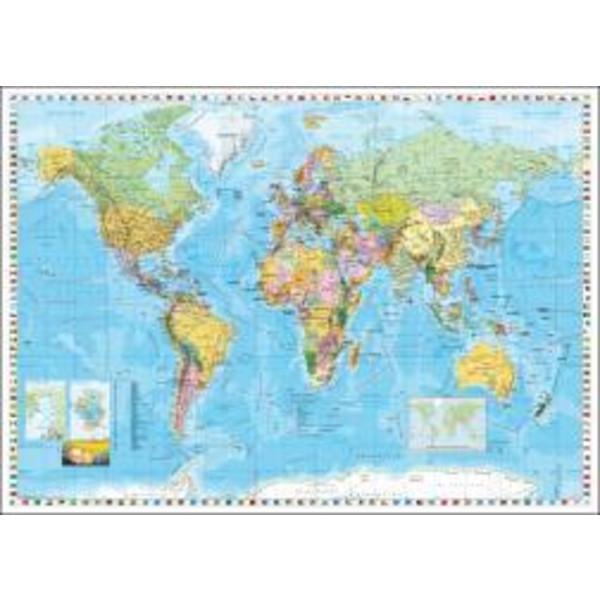 Weltkarte englisch - Karte