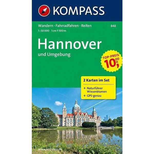 Hannover und Umgebung 1:50 000 - Wanderkarte