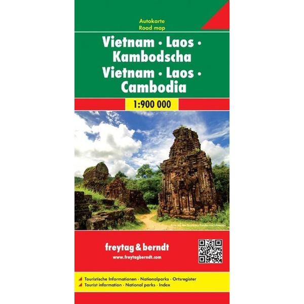 Vietnam - Laos - Kambodscha 1 : 900 000 - Straßenkarte