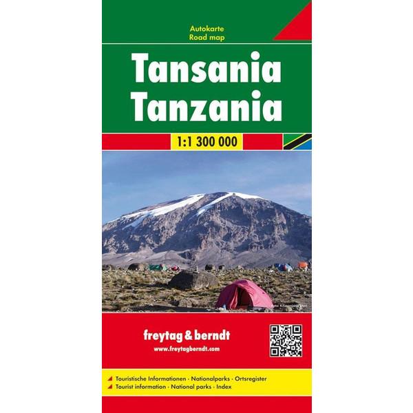 Tansania 1 : 1 300 000 - Straßenkarte