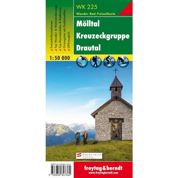 Mölltal - Kreuzeckgruppe - Drautal 1 : 50 000. WK 225 - Wanderkarte