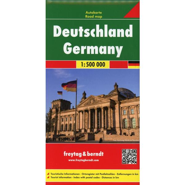 Deutschland, Autokarte 1:500.000 - Straßenkarte