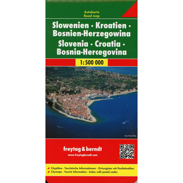 Slowenien / Kroatien / Bosnien-Herzegowina 1 : 500 000. Autokarte - Straßenkarte