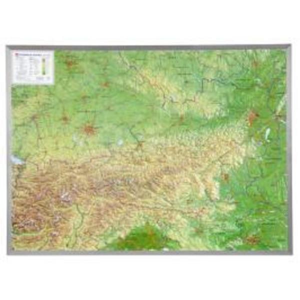 Österreich 1 : 800.000 mit Aluminium Rahmen - Wanderkarte