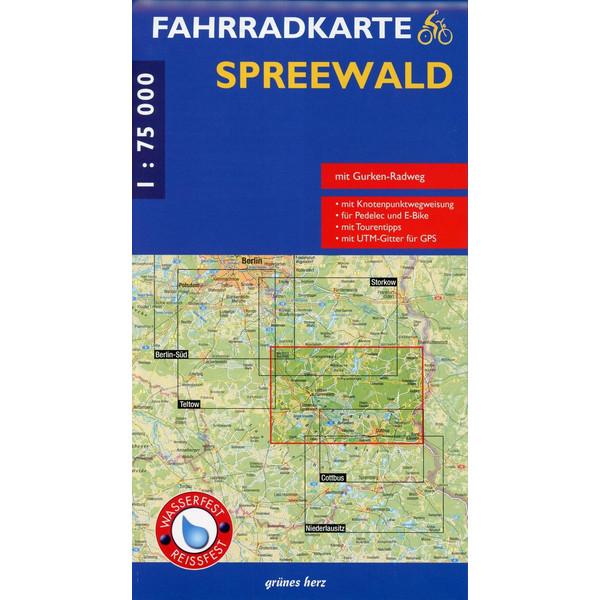 Spreewald 1 : 75 000 Fahrradkarte - Fahrradkarte
