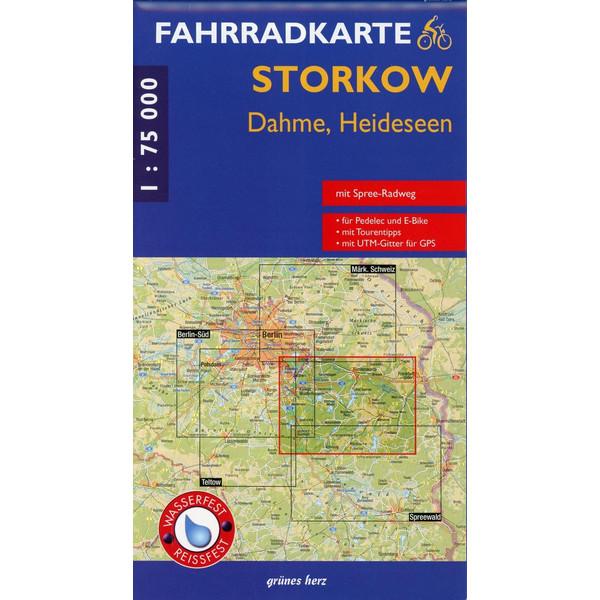 Storkow - Dahme - Heidessen 1 : 75 000 Fahrradkarte - Fahrradkarte