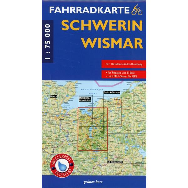 Fahrradkarte Schwerin - Wismar 1 : 75 000 Fahrradkarte - Fahrradkarte