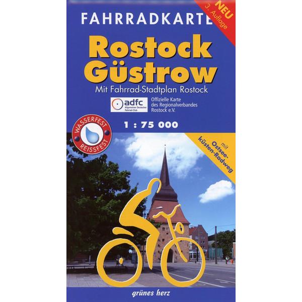 Fahrradkarte Rostock, Güstrow 1 : 75 000 - Fahrradkarte