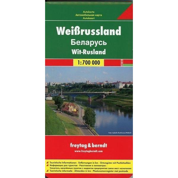 Weißrussland 1 : 700 000. Autokarte - Straßenkarte