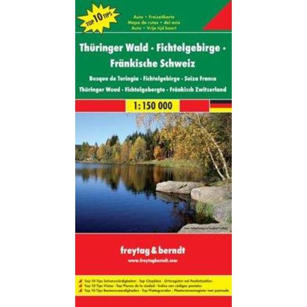 Thüringer Wald - Fichtelgebirge - Fränkische Schweiz 1 : 150 000 - Wanderkarte