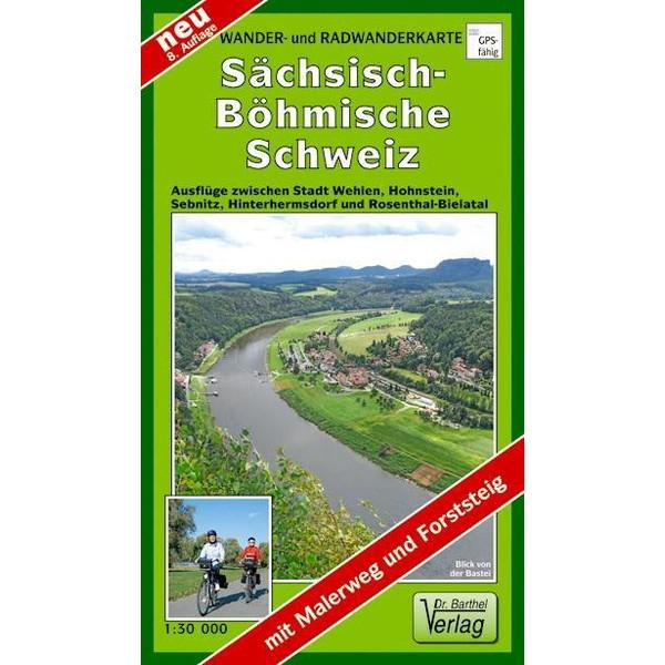 Wander- und Radwanderkarte Sächsisch-Böhmische Schweiz 1 : 30 000 - Wanderkarte