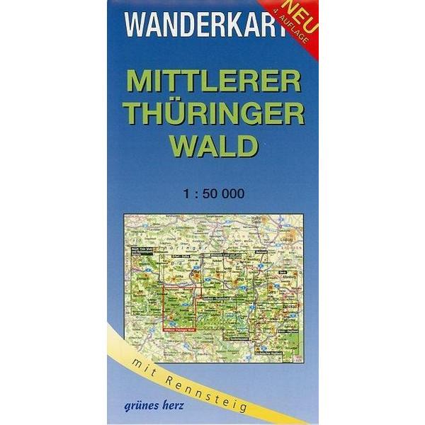 Mittlerer Thüringer Wald 1 : 50 000 Wanderkarte - Wanderkarte