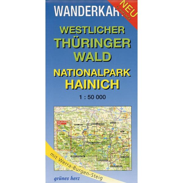 Westlicher Thüringer Wald - Nationalpark Hainich 1 : 50 000 Wanderkarte - Wanderkarte