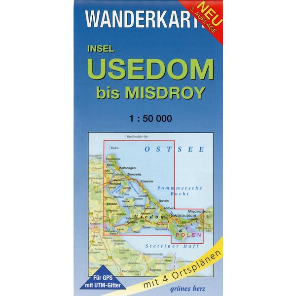 Insel Usedom bis Misdroy 1 : 50 000 Wanderkarte - Wanderkarte