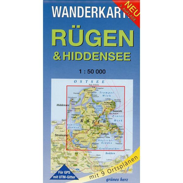 Rügen & Hiddensee 1 : 50 000 Wanderkarte - Wanderkarte