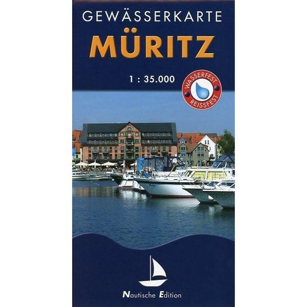 Müritz 1 : 35 000 Gewässerkarte - Wasserkarte