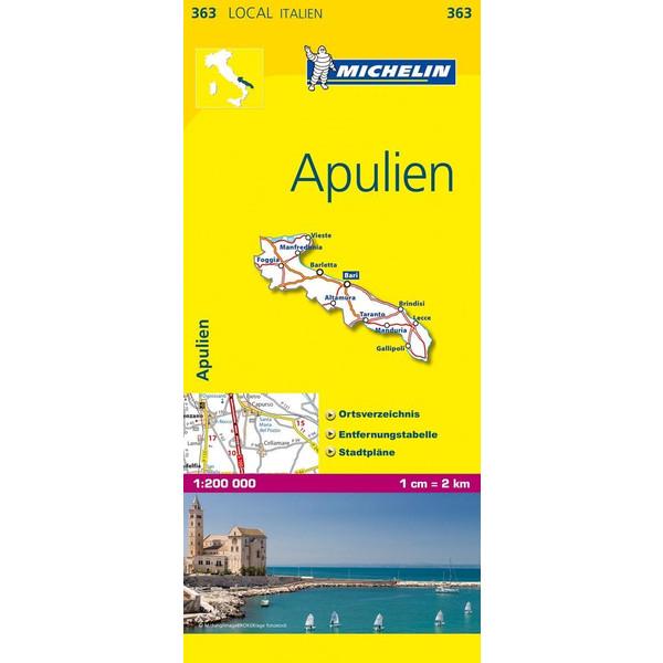 Michelin Lokalkarte Apulien 1 : 200 000 - Straßenkarte