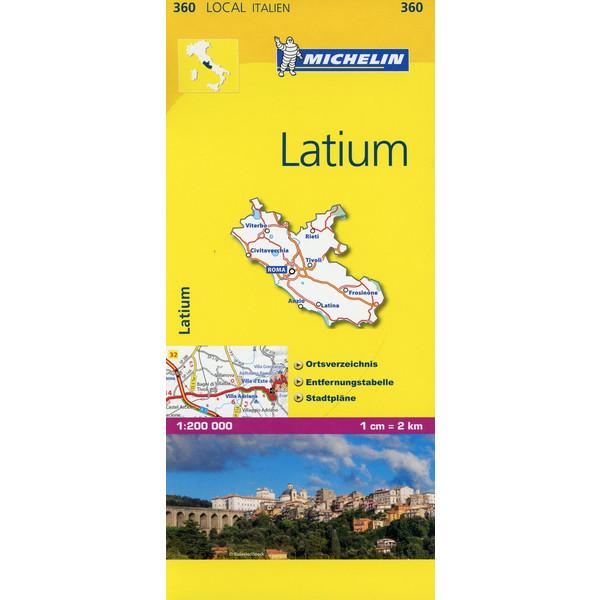 Michelin Lokalkarte Latium 1 : 200 000 - Straßenkarte