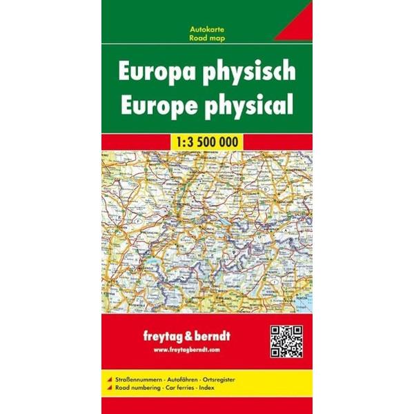 Europa 1 : 3 500 000. Autokarte physisch - Straßenkarte