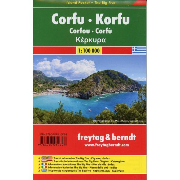 Korfu 1 : 100 000 (Island Pocket + The Big Five) - Straßenkarte