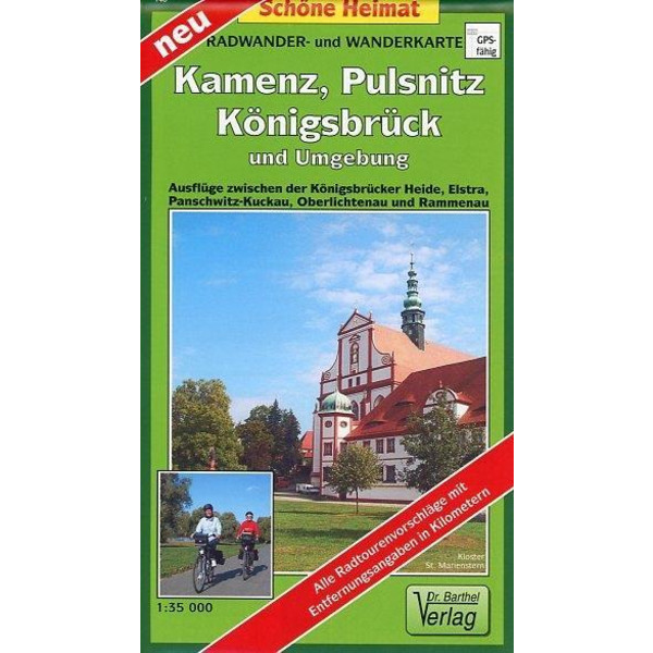 Kamenz, Pulsnitz, Königsbrück und Umgebung 1 : 35 000 - Wanderkarte