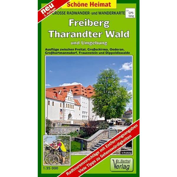 Freiberg Tharandter Wald und Umgebung 1 :35 000. Wander- und Radwanderkarte - Wanderkarte