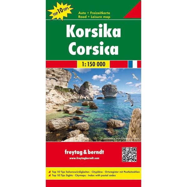 Korsika, Top 10 Tips, Autokarte 1:150.000 - Straßenkarte