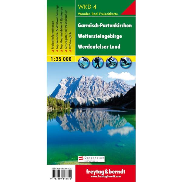 Garmisch-Partenkirchen: Wettersteingebirge, Werdenfelser Land 1 : 25 000 - Fahrradkarte