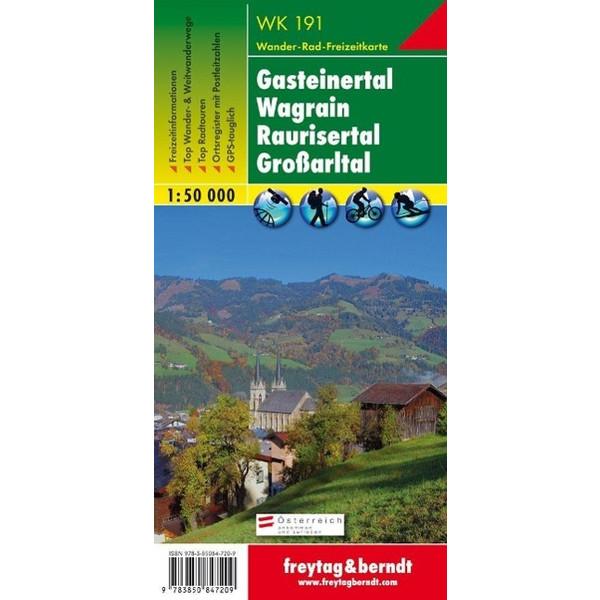 Gasteiner Tal, Wagrain, Raurisertal, Grossarltal  1 : 50 000. WK 191 - Wanderkarte