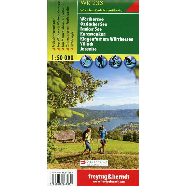 Wörther See - Ossiacher See - Faaker See - Karawanken - Klagenfurt am Wörthersee - Villach - Jesenice 1 : 50 000 - Wanderkarte