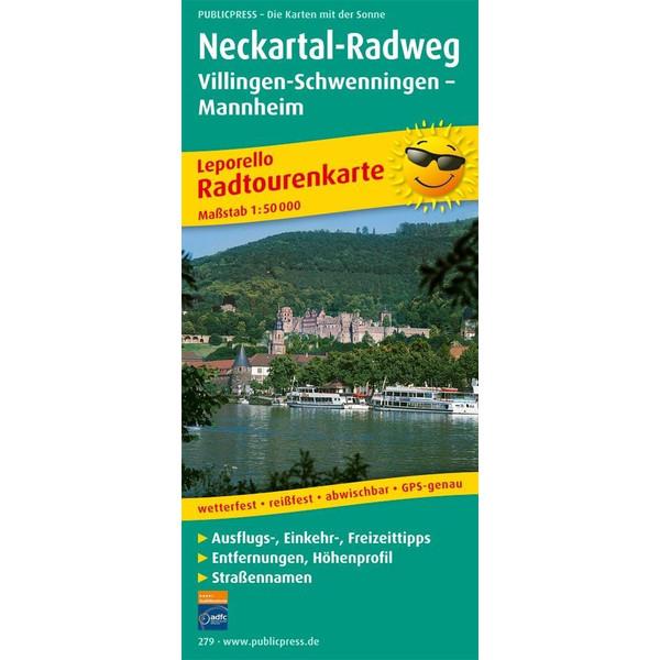 Neckartal-Radweg Villingen-Schwenningen - Mannheim. Radwanderkarte 1 : 50 000 - Fahrradkarte
