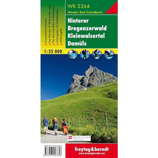 Hinterer Bregenzerwald - Kleinwalsertal - Damüls 1 : 35 000 - Wanderkarte