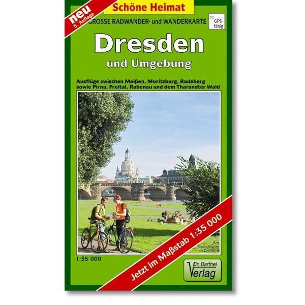 Dresden und Umgebung 1 : 35 000. Radwander- und Wanderkarte - Wanderkarte