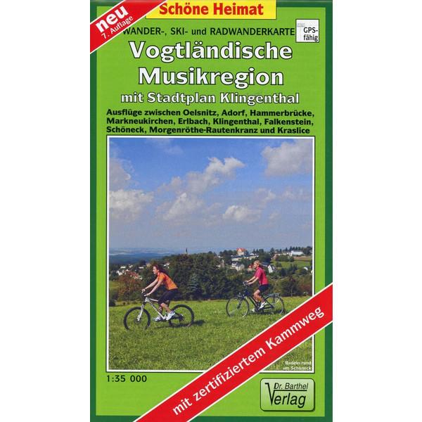 Wander-, Ski- und Radwanderkarte Vogtländische Musikregion mit Stadtplan Klingenthal 1 : 35 000