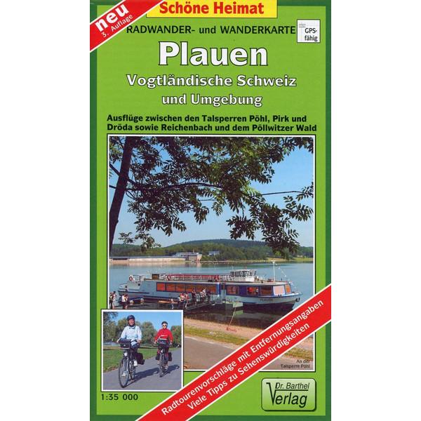 Radwander- und Wanderkarte Plauen, Vogtländische Schweiz und Umgebung 1 : 35 000 - Wanderkarte