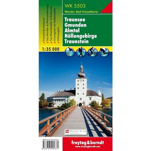 Traunsee - Gmunden - Ebensee - Höllengebirge - Traunstein 1 : 35 000. WK 5503 - Wanderkarte