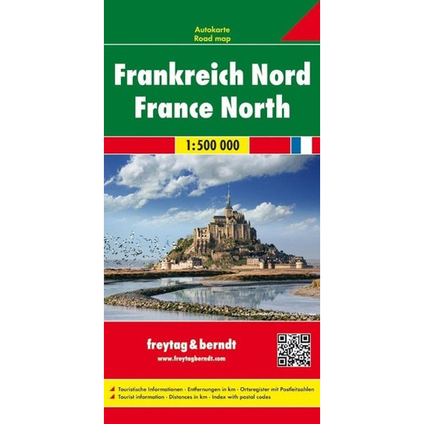 Frankreich Nord / France Nord 1 : 500 000. Autokarte