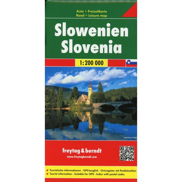 Slowenien, Autokarte 1:200.000 - Straßenkarte