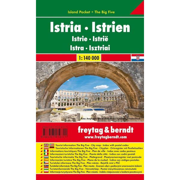 Istrien 1 : 140 000 (Island Pocket + The Big Five) - Straßenkarte