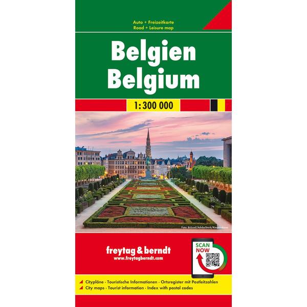 Belgien 1 : 300 000. Autokarte - Straßenkarte