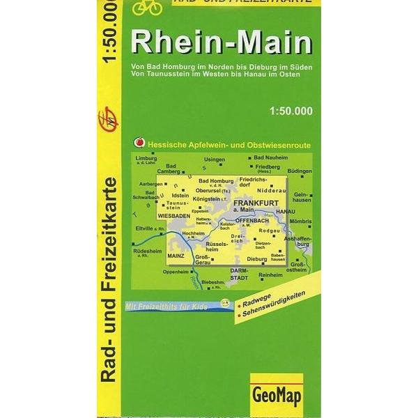 Rhein-Main 1 : 50 000. Radkarte - Fahrradkarte