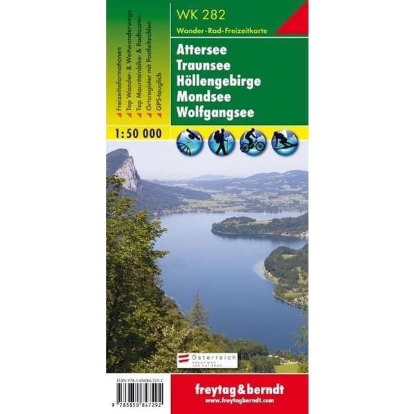 Attersee, Traunsee, Höllengebirge, Mondsee, Wolfgangsee 1 : 50 000. WK 282 - Wanderkarte