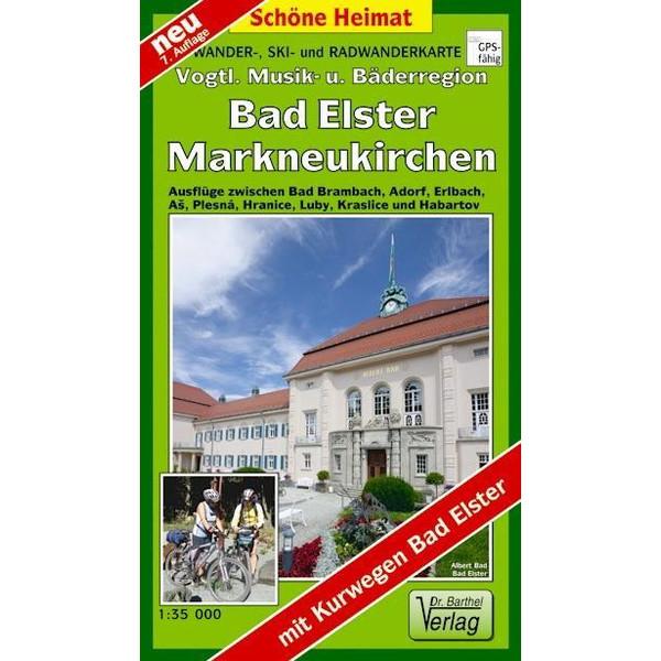 Wander-, Ski- und Radwanderkarte Vogtländische Musik- und Bäderregion mit Ortsplan Bad Elster/Ringweg 1 : 35 000 - Winterwanderkarte